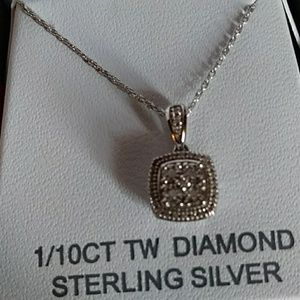 unkown Jewelry - 1/10 ft diamond sterling silver pendent